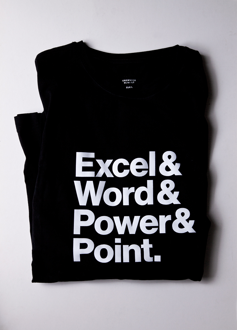 excel word power point shirt design grafikdesign kommunikations design grafik hommage an experimentaljetset ypografie typography fun saarbruecken neue haas art direktion 800